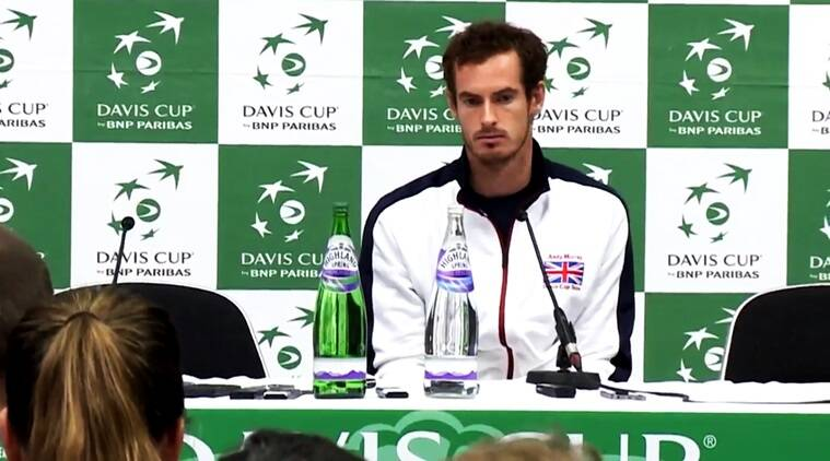 any murray davis cup match, andy murray funny response to reporter, andy murray davis cup, andy murray after davis cup match response to reporter, andy murray has funny explanation after davis cup, andy murray funny videos, indian express, indian express news