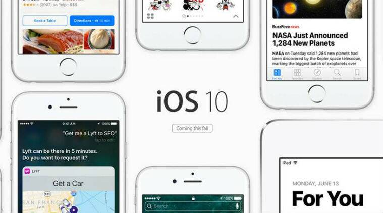 Apple, Apple update, ios 10, ios 10 launch, ios 10 features, ios 10 tricks, ios update, iphone update, Apple new mobile OS, Apple ios 10 features, iOS 10 notifications, ios 10 siri, raise to wake, apple live event, apple announcements, india, technology, technology news, indian express