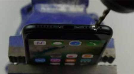 Apple, Apple iPhone 7, iPhone 7 prank video, iPhone 7 headphone jack, iPhone 7 drill headphone jack, iPhone 7 TechRax prank video, iPhone 7 drill hole for headphone jack, iPhone 7 bring back headphone, technology, technology news
