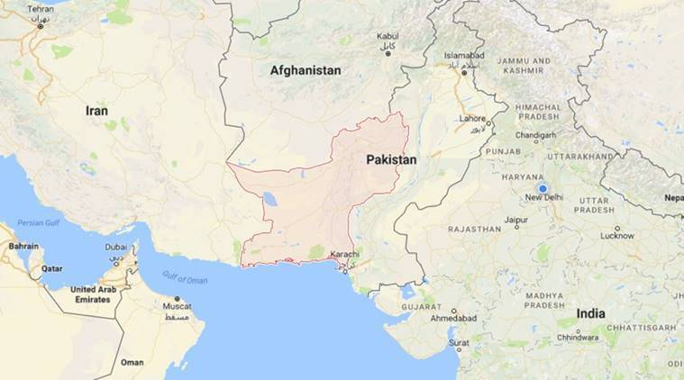 At the time of Indias surgical strikes mortar shells fired by – Map of Iran and India
