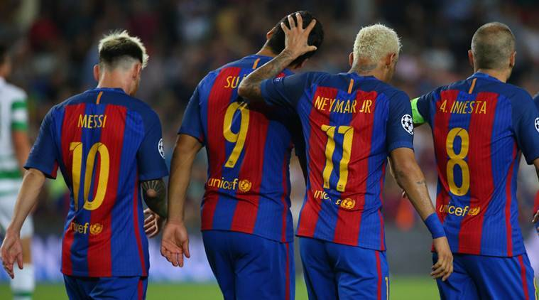 lionel messi, luis suarez, neymar, barcelona, msn, barcelona msn, manchester city, arsenal, psg, paris st germain, uefa champions league, champions league scores, champions league results, champions league matches, champions league news football news, sports news