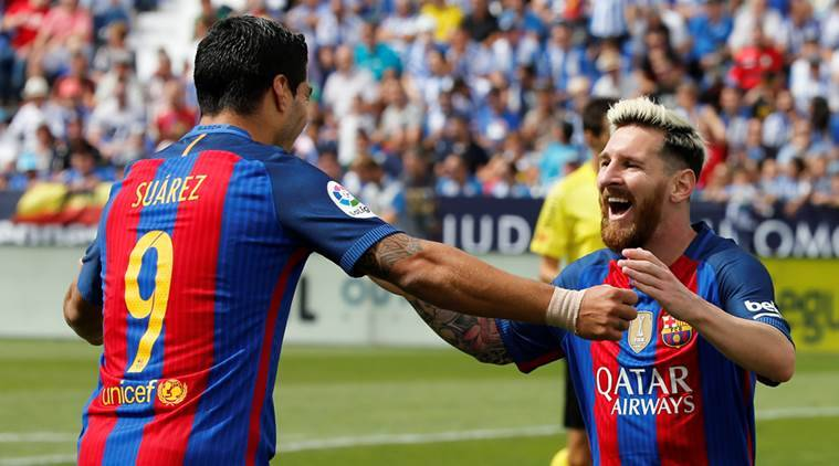 La Liga Roundup Lionel Messi Scores Two As Barcelona Rout