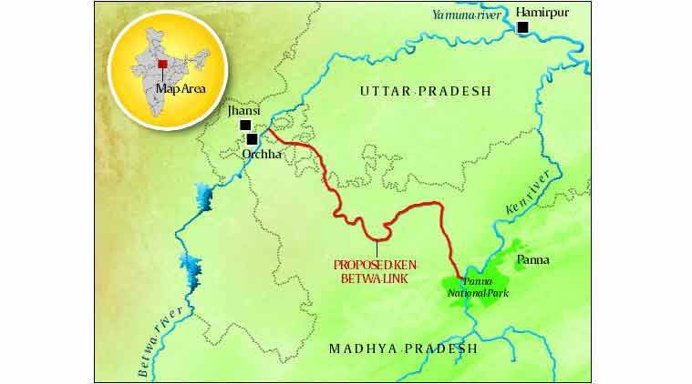 ken-betwa river, ken-betwa river linking project, wildlife clearance, panna tiger reserve forest land, ganga rejuvenation, panna tiger reserve, national water development agency, nwda panna tiger reserve, tiger conservation, wildlife institute of india, wildlife protection act, india news