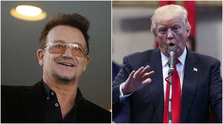Donald trump, Bono, u2 musician, U2 musician Bono, Bono on Donald trump, Trump, U2 lead vocalist Bono, US elections, US polls, Us presidential elections 2016, world news