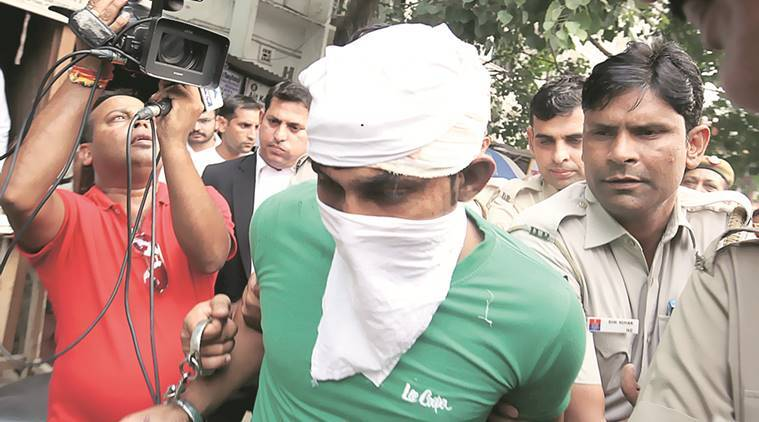 burari, burari stabbling, delhi stabbing, delhi woman stabbed, revenge case, mad lover kills woman, man stalker stabbing, delhi mad stalker, mad lover stabbing case, love stabbing, delhi crime, indian express news, india news, 27 times stabbing, latest news