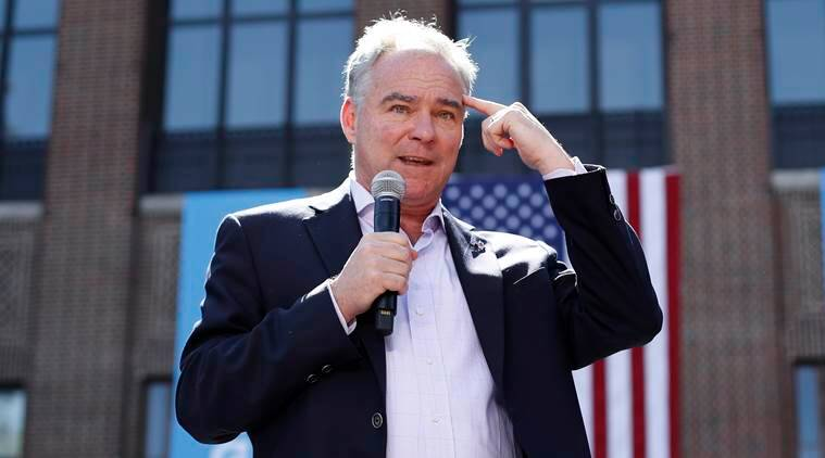 Tim Kaine, Hillary Clinton, US vice-presidential candidate, US presidential elections, US elections, Clinton running mate, Clinton health scare, Clinton pneumonia, US elections news, US news, world news, latest news, Indian express