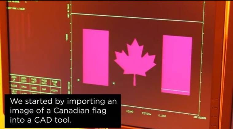 university of waterloo, canadian flag, smallest candian flag, flag of canada, canada 150th anniversary, world news, indian express,