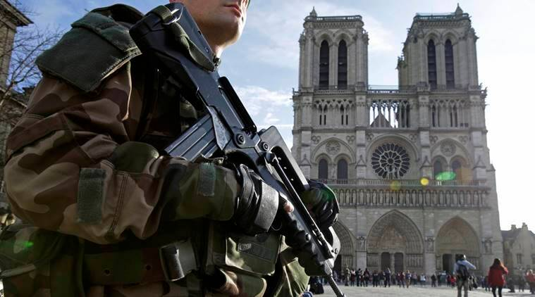 France, Paris, terror links, cylinders in car, car, Notre Dame cathedral, cathedral, couple help, radical Islam, world news, indian express