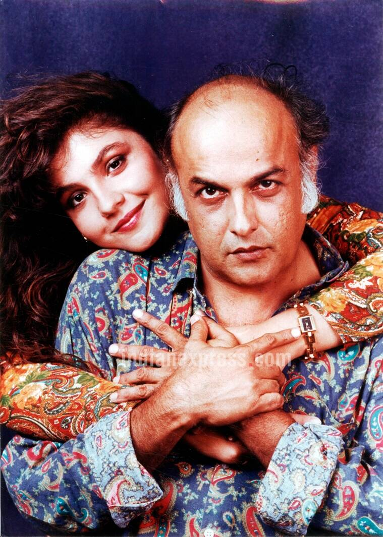 Actress Pooja Bhatt with her father Mahesh Bhatt. (Source: Express archive photo)