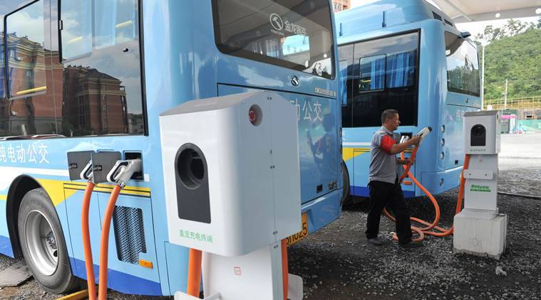 China, Chinese electric vehicle industry, electric bus scandal, Nissan, Hyundai, Chery, Geely, electric buses, China news, world news, latest news, Indian express