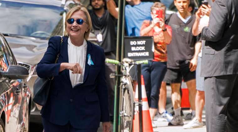 hillary clinton, hillary clinton ill, hillary clinton 9 11 ill, hillary clinton pneumonia, hillary clinton health, hillary clinton campaign, us elections 2016, us elections, us elections latest update, world news, indian express,