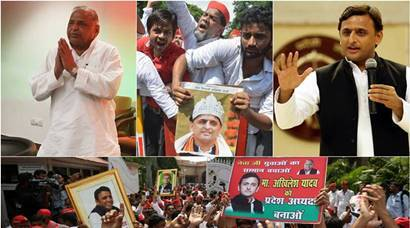 Samajwadi Party workers take to streets, protest removal of Akhilesh Yadav as party state president