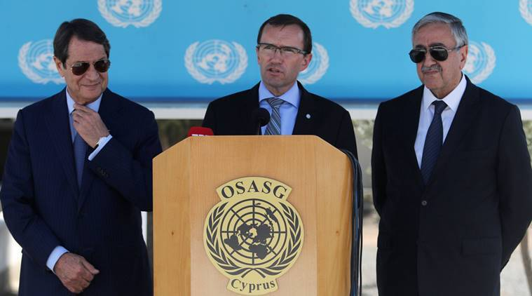 Cyprus, leaders, peace, peace deal, committed, United Nations, UN, UN envoy, cyprus divided, cyprus peace deal, cyprus government, cyprus UN, world news, indian express