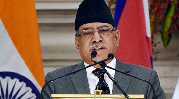 Pushpa Kamal Dahal, Nepal, pushpa kamal dahal india visit, pushpa kamal dahal new delhi visit, Pushpa Kamal Dahal Narendra Modi, narendra modi nepal, nepal India, news, India news, national news, latest news, Nepal news, indian express