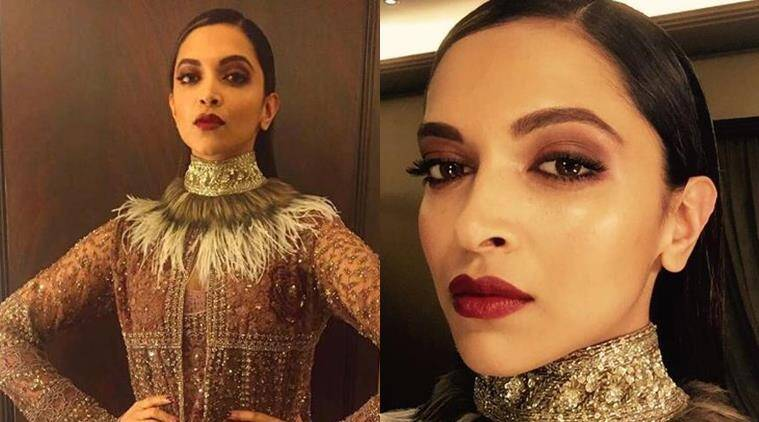 Deepika Padukone in Sabyasachi. (Source: Instagram/Sabysachi and Daniel Bauer)