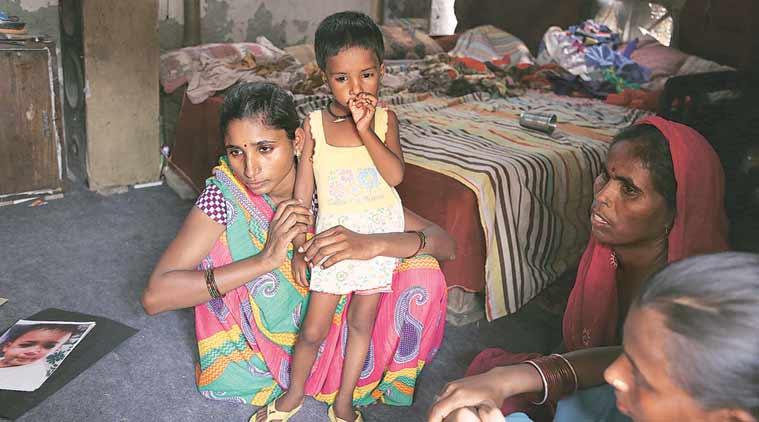 Mamta with her daughter  Lakshmi. (Express Photo by Renuka Puri)