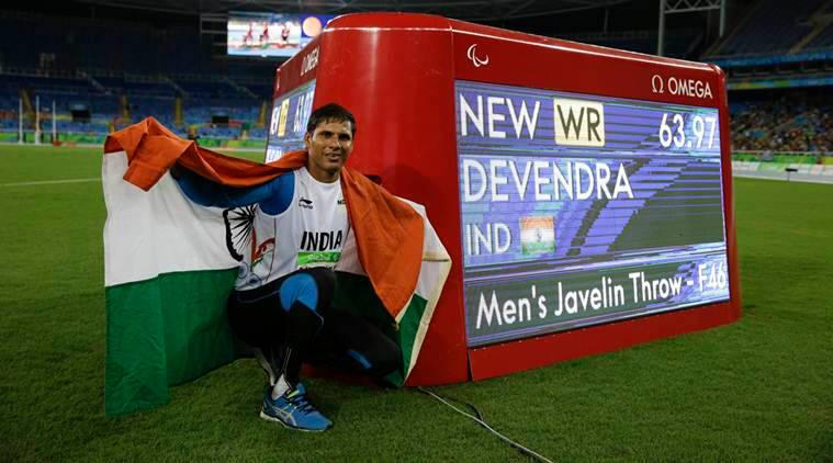 devendra jhajharia, paralympics games, paralympic games india, devendra jhajharia gold, paralympics medals, paralympics gold medals, paralympics javelin throw, india javelin throw gold, devendra jhajharia javelin throw, india paralympics, rio paralympics 2016, sports news