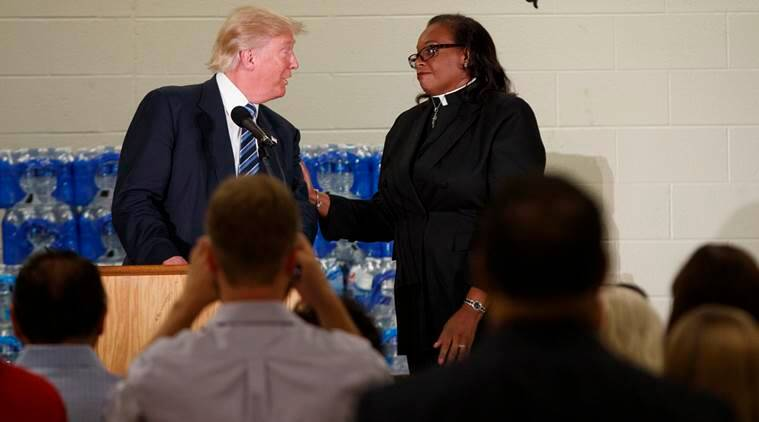 donald trump, donald trump in flint, donald trump michigan, donald trump heckled, trump news, trump campaign, trump event news, world news, latest news