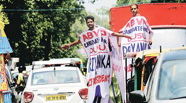 delhi university, delhi university student union, DUSU polls women, dusu elections, dusu polls, indian express news