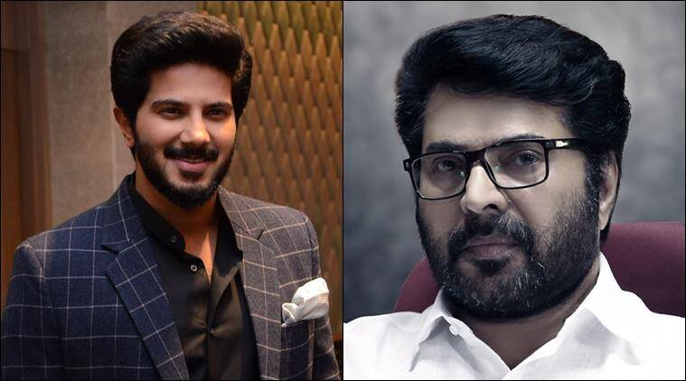 Dulquer Salmaan (left) and Mammootty