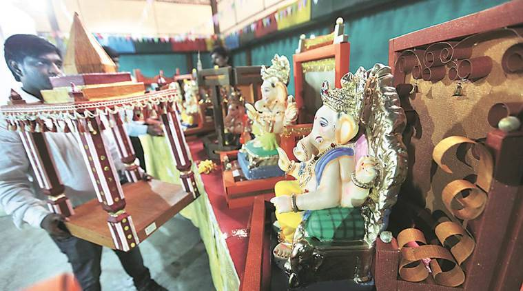 Pune, Ganesh festival, ganesh idols, eco-friendly idols, eco-friendly, immersible, dissolve, dissolvable, pollution, india news, indian express