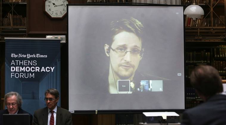 edward snowden. snowden, NSA leaker, NSA whistle blower, us presidential elections, us elections, world news, indian express