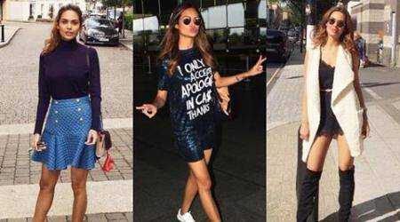 Esha Gupta is killing it with her style game in London, and she looks unbelievablyhot