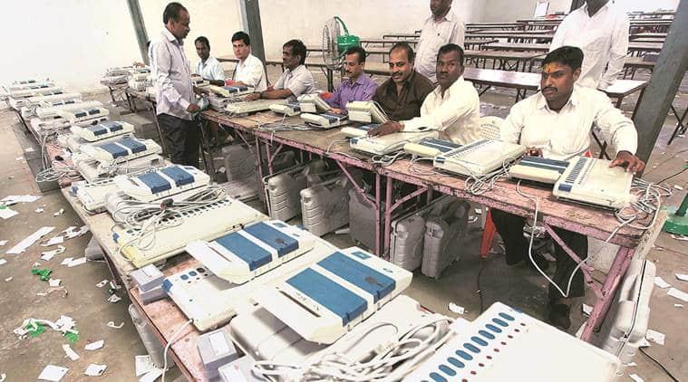 Uttarakhand elections, Uttarakhand elections 2017, Uttarakhand polls, Congress, BJP, Harish Rawat, EVMs, Election Commission, counting for Uttarkhand polls, India news, Indian Express