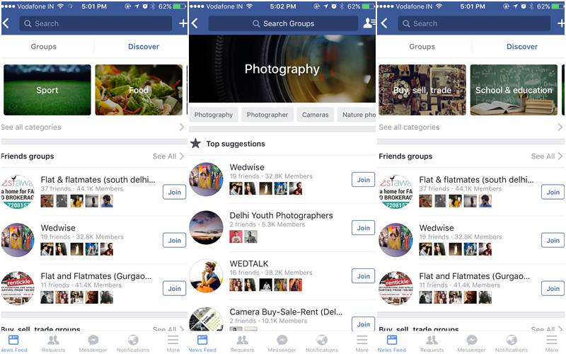 Facebook Groups Discover feature launched in India