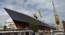 Mormugao, indian navy, missile destroyer ship, mumbai ship launch, Mormugao launch, Mormugao ship launch, Indian Navy, Indian navy Project 15B, india news, indian express news