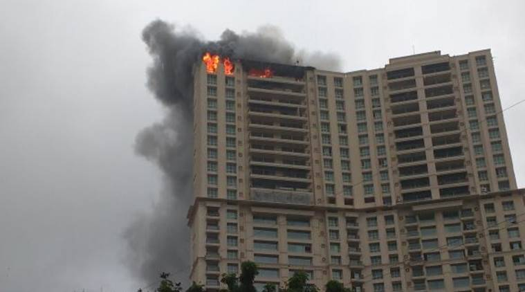 Fire breaks out at Hiranandani Tower in Mumbai
