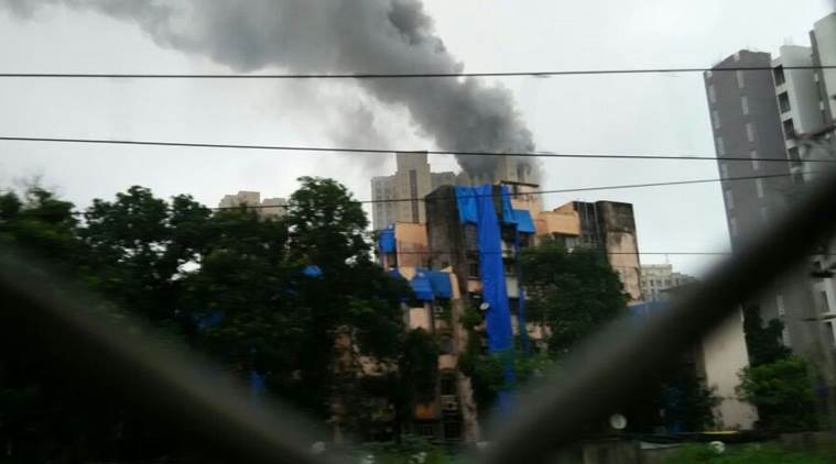 Mumbai fire, hiranandani fire, kandivali fire, fire in mumbai, heritage towers mumbai, heritage towers fire, news, mumbai fire news, hiranandani fire towers, news, indian express news