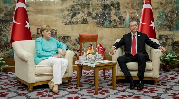 turkey, germany, Tayyip Erdogan, Turkish President Erdogan, German Chancellor, Angela Merkel, Merkel erdogan, germany turkey bilateral meeting, g20 germany turkey, g20, g20 summit, Turkish President Erdogan, latest news, latest world news