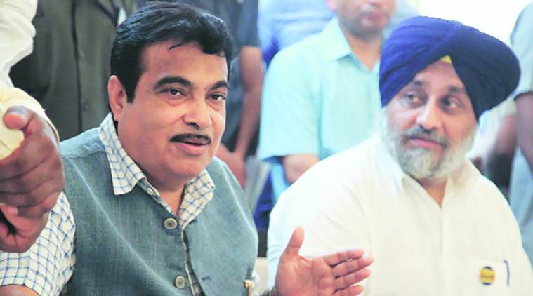 Nitin Gadkari, Jalandhar, Gadkari Jalandhar, Sukhbir Singh Badal, SAD, BJP, news, latest news, India news, Punjab news, national news, latest news, Punjab Mini Bus Association