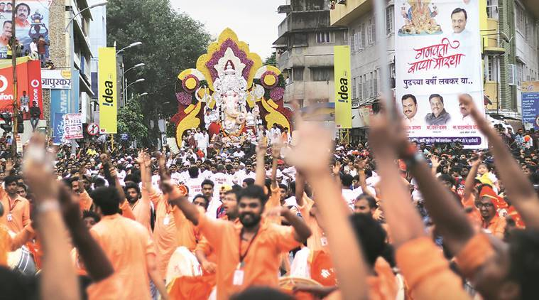 ganpati visarjan news, ganpati celebrations news, india news, indian express news