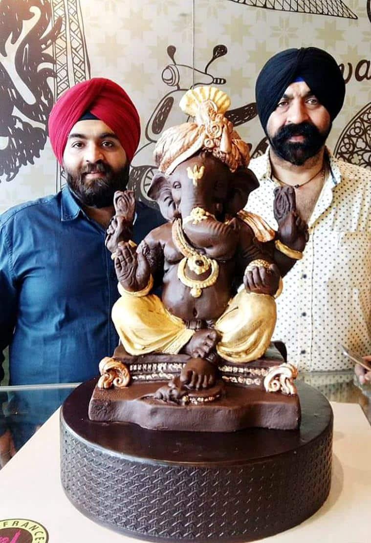 The edible Ganesha was reportedly made within a week. (Source: Facebook/Harjinder Singh Kukreja)