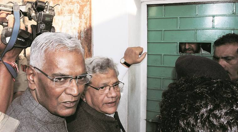 Sitaram Yechury, D Raja turned away from Syed Ali Shah Geelani's house. PTI