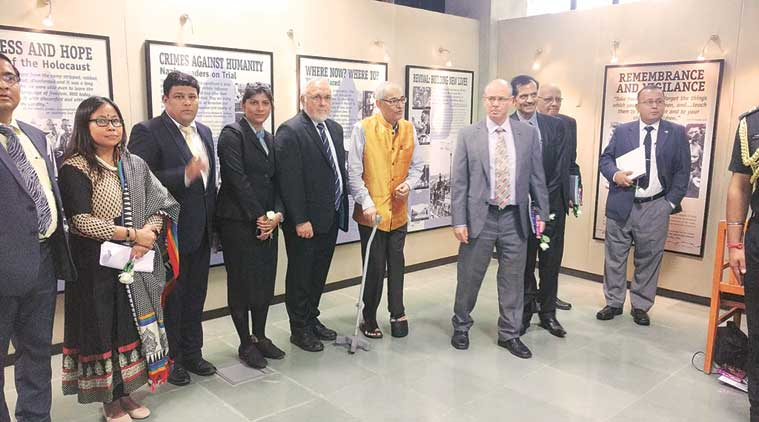 The exhibition was inaugurated by Governor O P Kohli at GNLU in Gandhinagar on Thursday. (Express Photo)