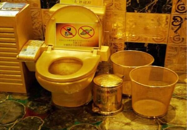 gold toilet. gold toilet hong kong New York s Guggenheim Museum unveils  Here are few