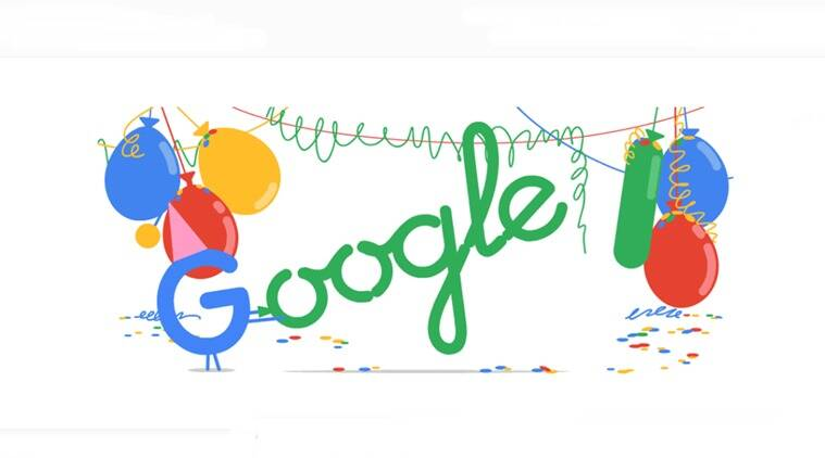 google 18th birthday, google doodle 18th birthday, google celebrates 18th birthday doodle, trending globally, indian express, indian express news