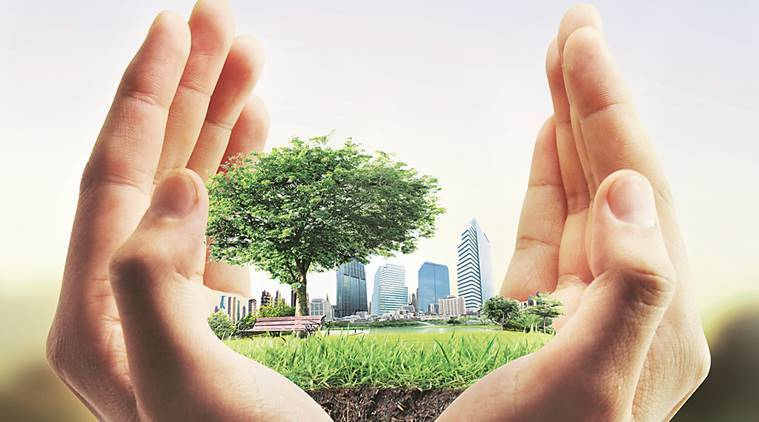 sustainable development, sustainable real estate, green commercial buildings, global corporates, dfid, national housing bank, housing loan, green environment, clean houses, residential property market, green building concept, rain water harvesting, Energy Conservation Building Code, indian express news, india news