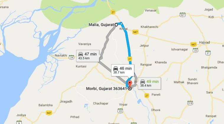 Gujarat Pilgrims Killed In Road Accident Near Maliya On NH - Morvi map