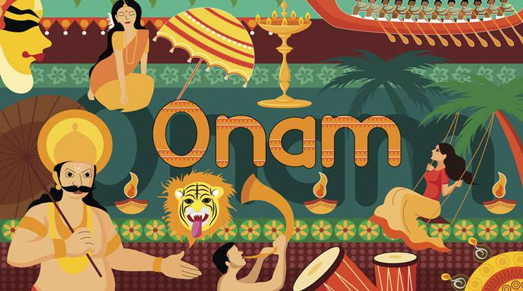 Happy onam 2016 15 whatsapp sms facebook wishes for your loved vector illustration of happy onam festival celebration background m4hsunfo Gallery