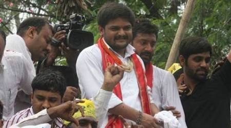 Banners in favour of and against Hardik Patel crop up in Surat