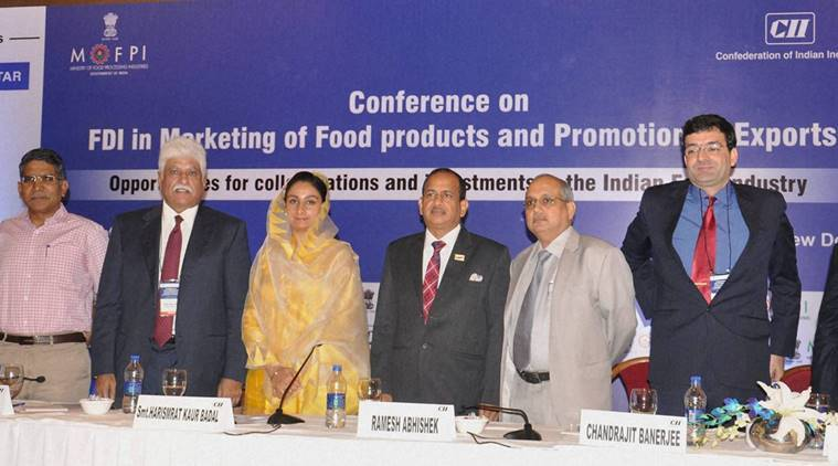 food processing, food processing central government, food processing levels, Union food processing minister, Harsimrat Kaur Badal, foreign direct investment, India news