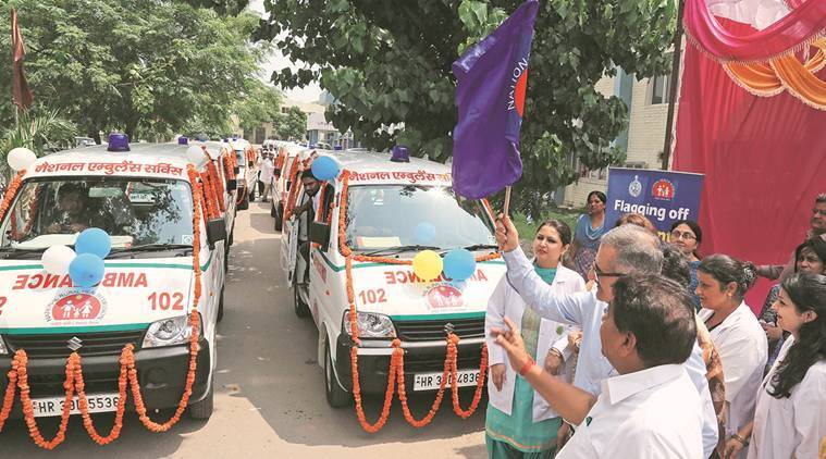 D S Dhesi, haryana chief secretary, ambulances, panchkula ambulances, ambulance service, haryana ambulance service, aadhaar registration, National Health Mission, haryana government, indian express news, india news, chandigarh news