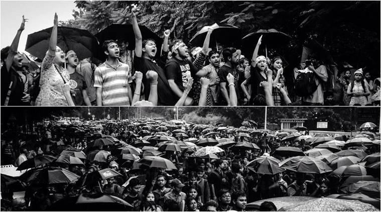 Protest march during 2014 Hokolorob movement by Javapur University students. (Source: Ronny Sen/ Facebook)