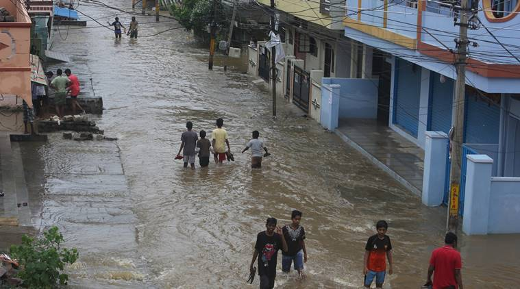 Hyderabad rains, Andhra rains, Telangana rains, K Chandrasekhar Rao, KCR, KCR flood, Telanga flood rehabilitation, news, latest news, India news, national news, Telangana news, Andhra Pradesh news, godavari