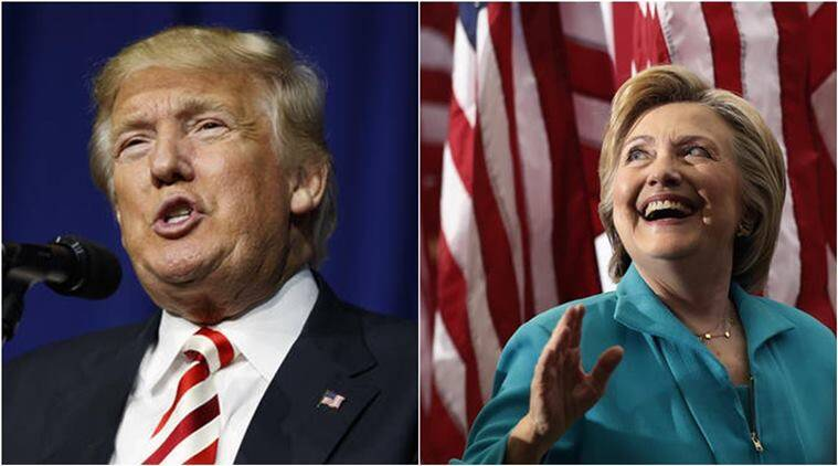 donald trump, hillary clinton, trump vs clinton, us elections 2016, us elections polls, us elections news, world news, indian express,