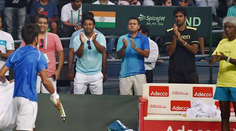 Sumit plays at Davis Cup